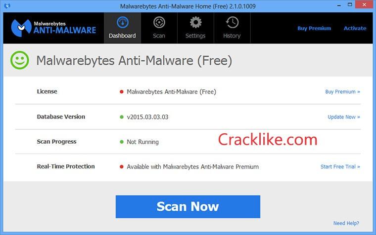 Malwarebytes Anti-Malware 4.4.2.223 Crack + License Key Download (2021)