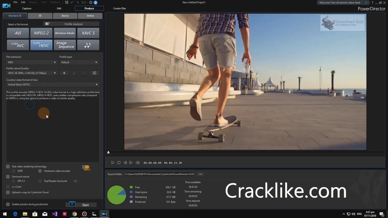 CyberLink PowerDirector 20.0.2204.0 Crack + Full Torrent Keygen Download 2022