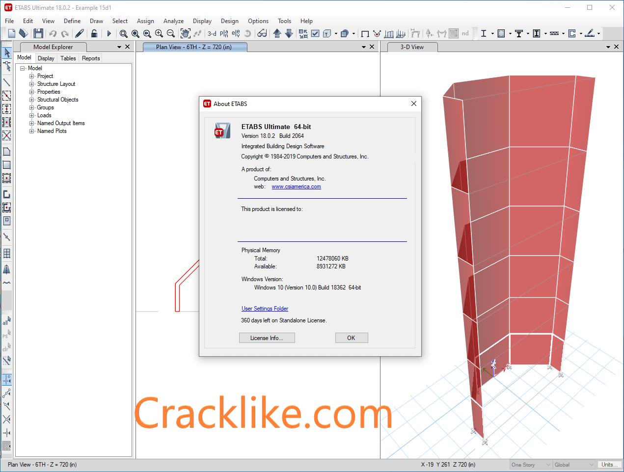 CSI ETABS Ultimate 19.2 Crack With Serial Keygen Free Download 2021 Mac / Win