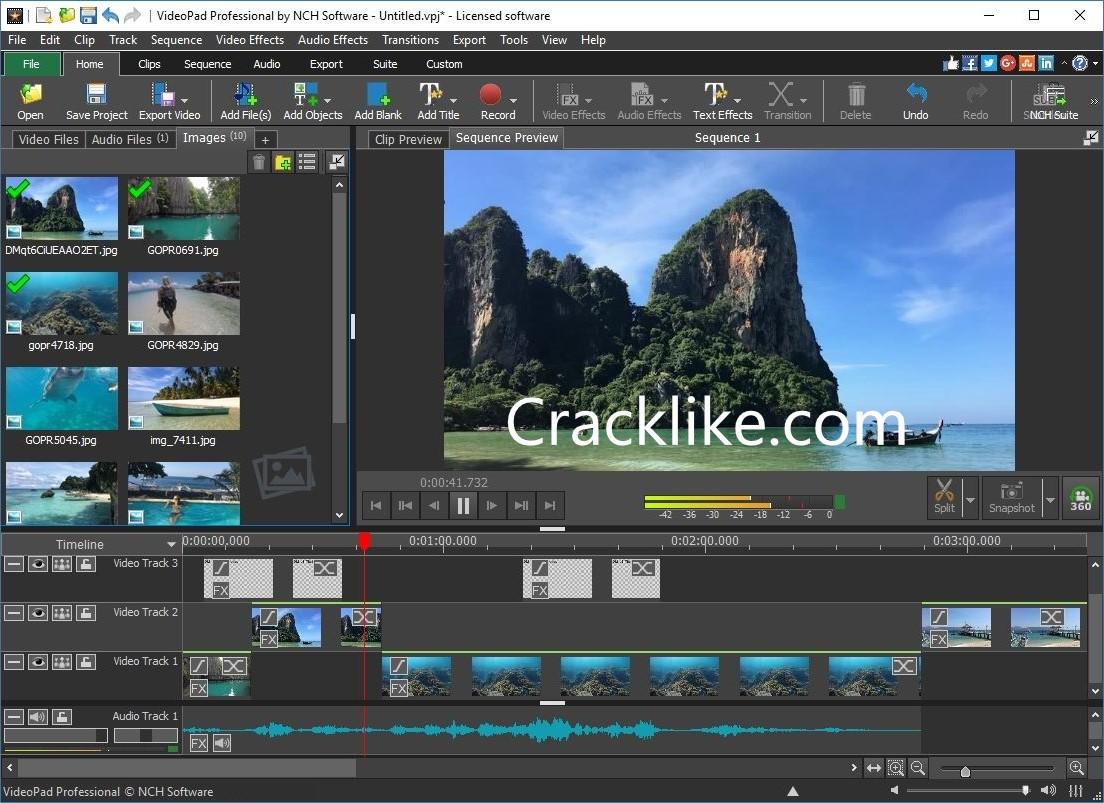 VideoPad Video Editor 10.83 Crack Latest Version Registration Code 2021